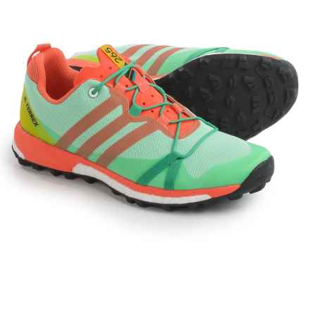 adidas outdoor Terrex Agravic Trail Running Shoes (For Women) in Core Green/Black/Easy Orange - Closeouts