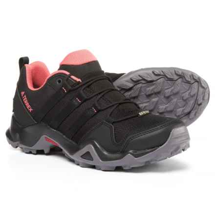 adidas outdoor Terrex AX2R Gore-Tex® Hiking Shoes - Waterproof (For Women) in Black/Black/Tactile Pink - Closeouts