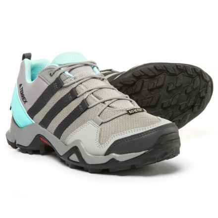 adidas outdoor Terrex AX2R Gore-Tex® Hiking Shoes - Waterproof (For Women) in Ch Solid Grey/Dgh Solid Grey/Clear Aqua - Closeouts