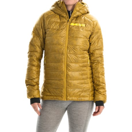 adidas outdoor Terrex ClimaHeat® Agravic Down Jacket - 800 Fill Power (For Women) in Raw Ochre