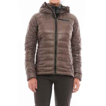 adidas outdoor Terrex ClimaHeat® Agravic Hooded Jacket - 800 Fill Power (For Women) in Tech Earth/Utility Black - Closeouts