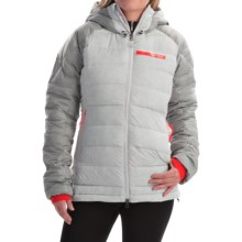 adidas outdoor Terrex ClimaHeat® Down Jacket - 800 Fill Power, Hooded (For Women) in Clear Grey - Closeouts