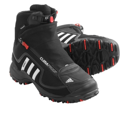 Adidas Outdoor Terrex Conrax CP Winter Boots - Waterproof, Insulated (For Young Men) in Black/Running White/Collegiate Red