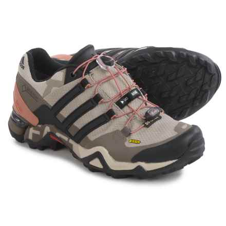 adidas outdoor Terrex Fast R Gore-Tex® Trail Running Shoes - Waterproof (For Women) in Vapour Grey/Black/Tech Earth - Closeouts