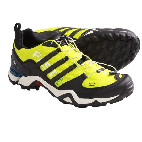 Adidas Outdoor Terrex Fast R Hiking Shoes (For Men) in Lab Lime/Black/Craft Emerald
