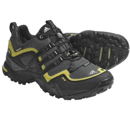 adidas outdoor Terrex Fast X FM Gore-Tex® Trail Shoes - Waterproof (For Men) in Mid Cinder/Black/Seaweed - Closeouts