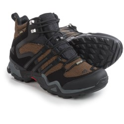 adidas outdoor Terrex Fast X FM Mid Gore-Tex® Hiking Boots - Waterproof (For Men) in Earth/Black/Vista Grey