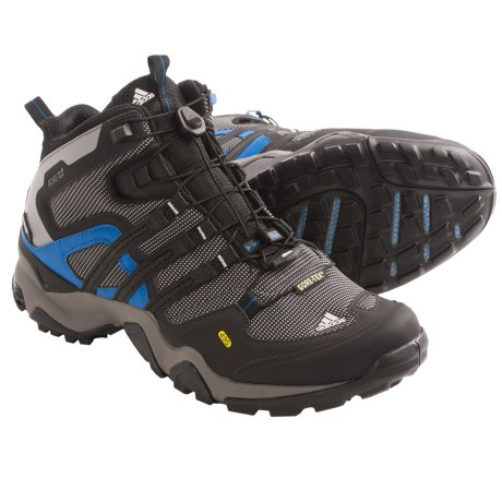 Adidas Outdoor Terrex Fast X FM Mid Gore-Tex® Hiking Boots - Waterproof (For Men) in Mid Cinder/Black/Craft Blue