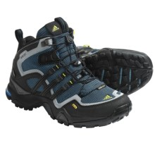 Adidas Outdoor Terrex Fast X FM Mid Gore-Tex® Hiking Boots - Waterproof (For Women) in Sharp Blue/Black/Shift Grey - Closeouts