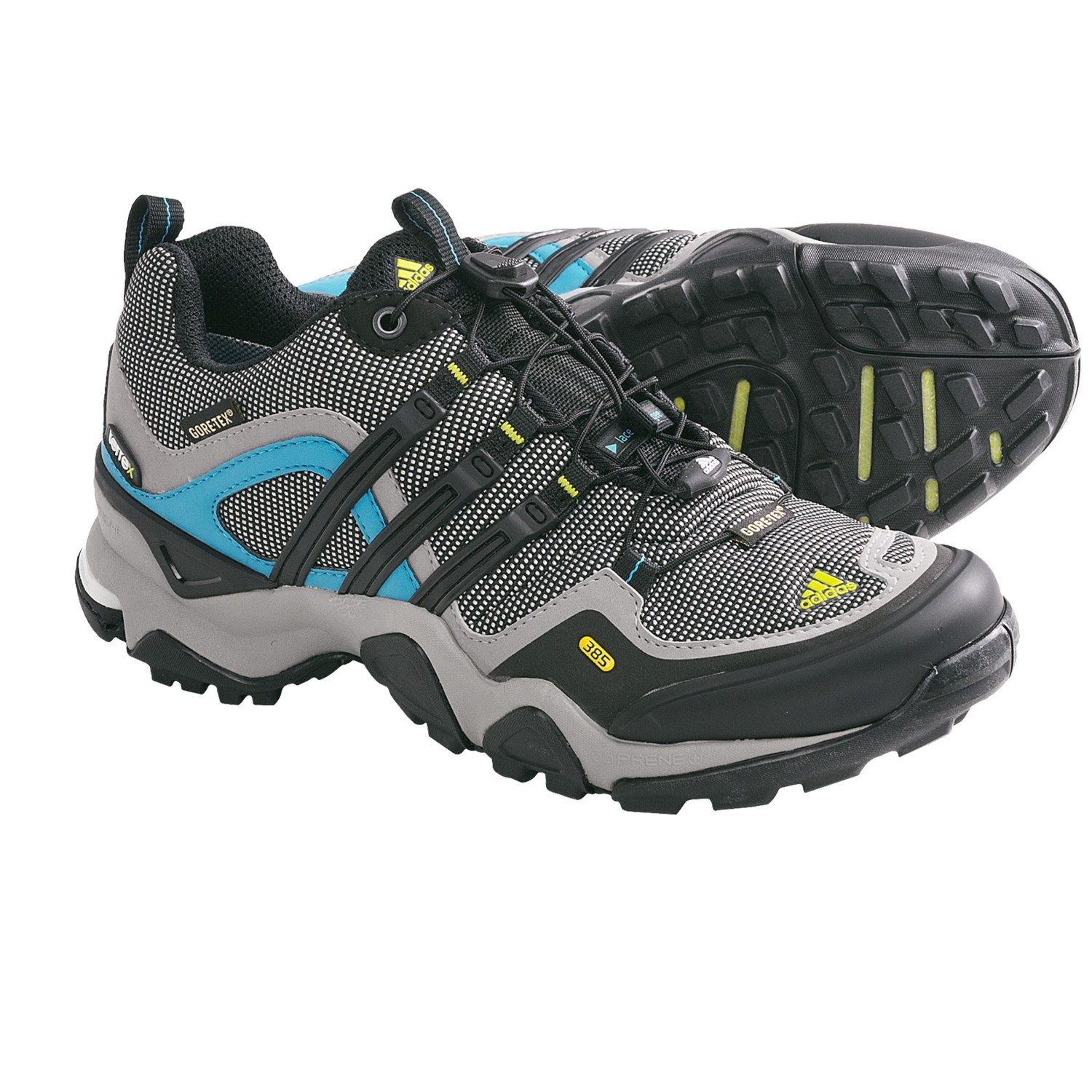 Hiking Shoes - Waterproof (For Women) in Grey Rock/Black/Lab Green