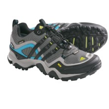 Adidas Outdoor Terrex Fast X Gore-Tex® Hiking Shoes - Waterproof (For Women) in Grey Rock/Black/Lab Green - Closeouts
