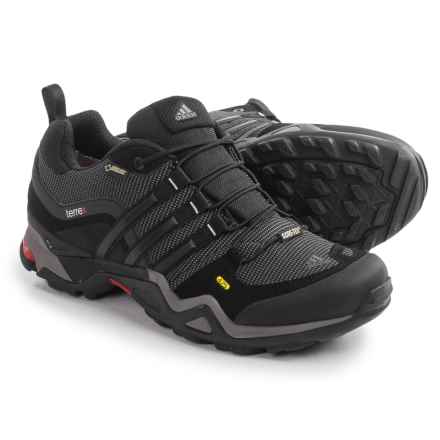 adidas outdoor Terrex Fast X Gore-Tex® XCR® Hiking Shoes - Waterproof (For Men) in Carbon/Black/Light Scarlet - Closeouts
