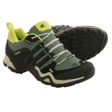 adidas outdoor Terrex Fast X Gore-Tex® XCR® Hiking Shoes - Waterproof (For Women) in Bahia Mint/Black/Bahia Glow - Closeouts