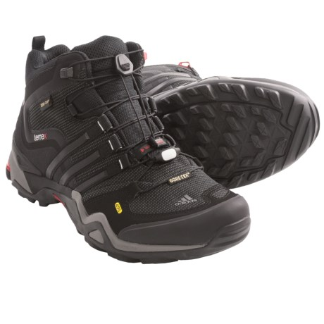 Adidas Outdoor Terrex Fast X Mid Gore-Tex® Hiking Boots - Waterproof (For Men) in Black/Core Energy