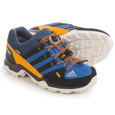 adidas outdoor Terrex Gore-Tex® Shoes - Waterproof (For Kids and Youth) in Eqt Blue/Black/Orange - Closeouts