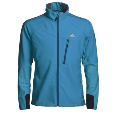 Adidas Outdoor Terrex Hybrid Soft Shell Jacket - Windstopper® (For Men) in Sharp Blue