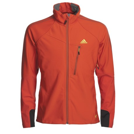 Adidas Outdoor Terrex Hybrid Soft Shell Jacket - Windstopper® (For Men) in Sharp Orange