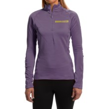 adidas outdoor Terrex Icesky II Shirt - Zip Neck, Long Sleeve (For Women) in Ash Purple - Closeouts