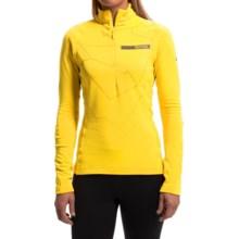 adidas outdoor Terrex Icesky II Shirt - Zip Neck, Long Sleeve (For Women) in Bright Yellow - Closeouts