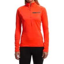 adidas outdoor Terrex Icesky II Shirt - Zip Neck, Long Sleeve (For Women) in Solar Red - Closeouts
