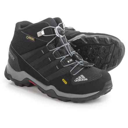 adidas outdoor Terrex Mid Gore-Tex® Hiking Boots - Waterproof (For Little and Big Kids) in Black/Grey - Closeouts