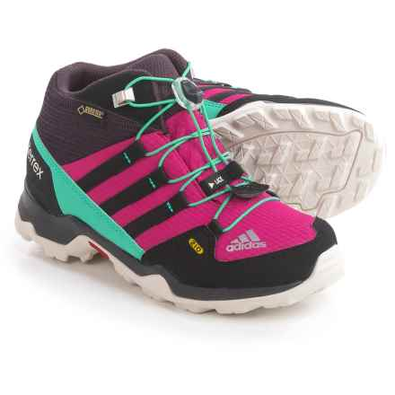 adidas outdoor Terrex Mid Gore-Tex® Hiking Boots - Waterproof (For Little and Big Kids) in Mineral Red/Bold Pink/Core Black - Closeouts
