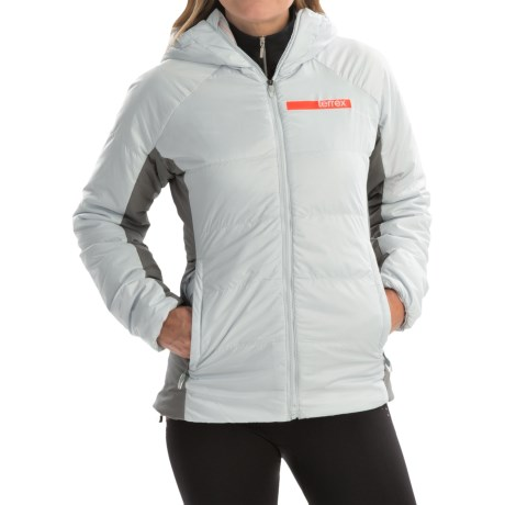 adidas outdoor terrex Ndosphere II Hooded Jacket - Insulated (For Women) in Clear Grey/Vista Grey