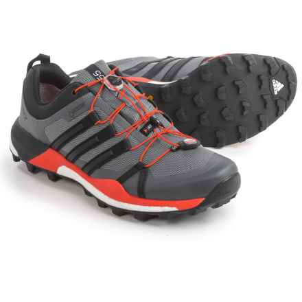 adidas outdoor Terrex Skychaser Gore-Tex® Trail Running Shoes - Waterproof (For Men) in Vista Grey/Black/Energy - Closeouts