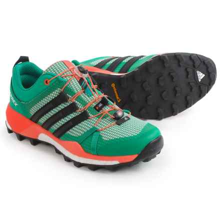 adidas outdoor Terrex Skychaser Trail Running Shoes (For Women) in Core Green/Black/Easy Orange - Closeouts