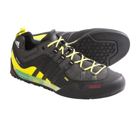 Adidas Outdoor Terrex Solo Approach Shoes (For Men) in Dark Cinder/Black/Lab Lime