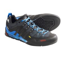 Adidas Outdoor Terrex Solo Approach Shoes (For Men) in Dark Shale/Black/Craft Blue - Closeouts