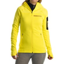 adidas outdoor Terrex Stockhorn Fleece Jacket (For Women) in Bright Yellow - Closeouts