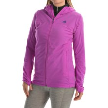 adidas outdoor Terrex Swift 37.5 Fleece Jacket (For Women) in Flash Pink - Closeouts