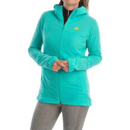 adidas outdoor Terrex Swift 37.5 Fleece Jacket (For Women) in Vivid Mint - Closeouts