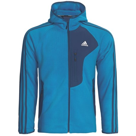 Adidas Outdoor Terrex Swift Hooded Jacket - Rib Fleece (For Men) in Sharp Blue