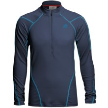 Adidas Outdoor Terrex Swift Pullover - Zip Neck (For Men) in Solid Blue - Closeouts
