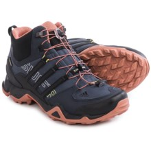 adidas outdoor Terrex Swift R Gore-Tex® Mid Hiking Shoes - Waterproof (For Women) in Midnight Grey/Black/Raw Pink - Closeouts
