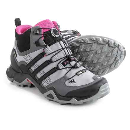 adidas outdoor Terrex Swift R Gore-Tex® Mid Hiking Shoes - Waterproof (For Women) in Shock Pink/Granite/Black - Closeouts