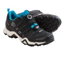 adidas outdoor Terrex Swift R Gore-Tex® Trail Running Shoes - Waterproof (For Women) in Black/Hero Blue - Closeouts