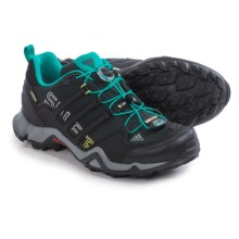 adidas outdoor Terrex Swift R Gore-Tex® Trail Running Shoes - Waterproof (For Women) in Black/Vivid Mint/Vista Grey - Closeouts