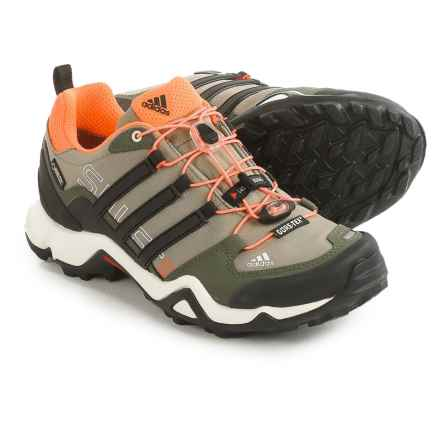 adidas outdoor Terrex Swift R Gore-Tex® Trail Running Shoes - Waterproof (For Women) in Clay/Black/Flash Orange - Closeouts