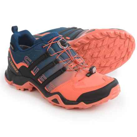 adidas outdoor Terrex Swift R Gore-Tex® Trail Running Shoes - Waterproof (For Women) in Easy Orange/Black/Mystery Blue - Closeouts