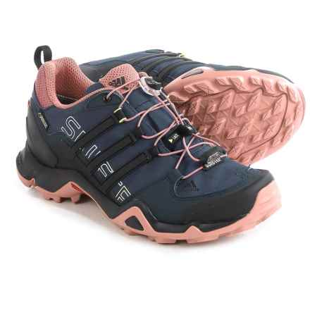 adidas outdoor Terrex Swift R Gore-Tex® Trail Running Shoes - Waterproof (For Women) in Midnight Grey/Black/Raw Pink - Closeouts