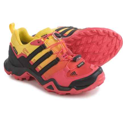 adidas outdoor Terrex Swift R Gore-Tex® Trail Running Shoes - Waterproof (For Women) in Super Blush/Black/Bright Yellow - Closeouts