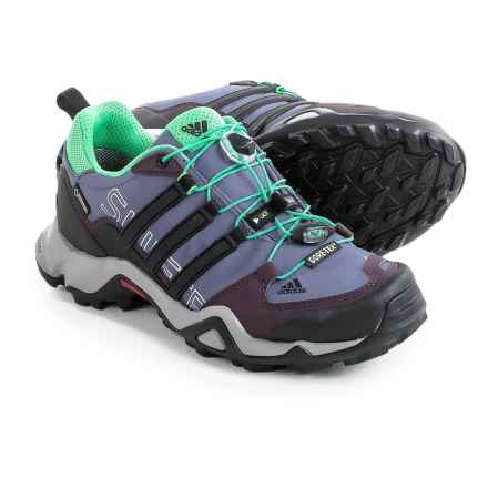 adidas outdoor Terrex Swift R Gore-Tex® Trail Running Shoes - Waterproof (For Women) in Super Purple/Black/Mineral Red - Closeouts