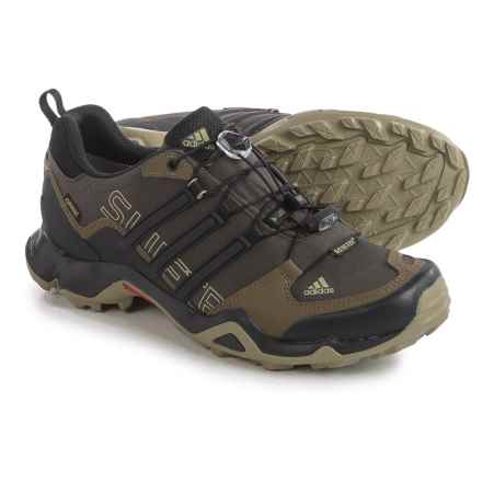 adidas outdoor Terrex Swift R Gore-Tex® XCR® Trail Running Shoes - Waterproof (For Men) in Umber/Black/Grey Blend - Closeouts