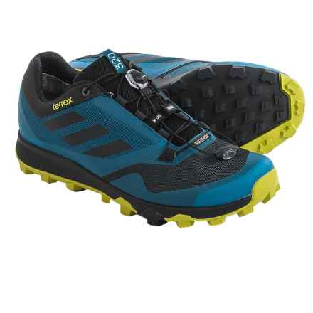 adidas outdoor Terrex Trailmaker Gore-Tex® Trail Running Shoes - Waterproof (For Men) in Tech Steel/Black/Unity Lime - Closeouts