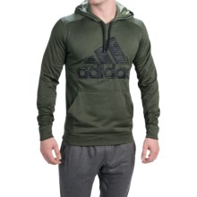 adidas outdoor Ultimate Logo Hoodie (For Men) in Base Green/Black - Closeouts
