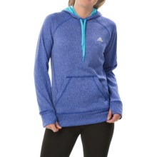 adidas outdoor Ultimate Pullover Hoodie (For Women) in Bold Blue/Bright Cyan - Closeouts