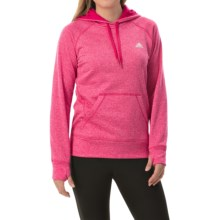 adidas outdoor Ultimate Pullover Hoodie (For Women) in Bold Pink/Maroon - Closeouts